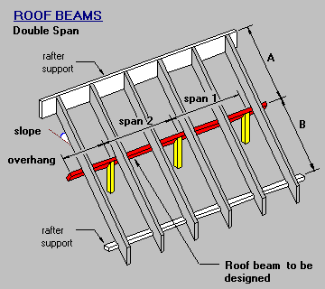 Roof Beam Double Span